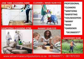 Senzenina security and cleaning services