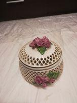 Sprzedam stara szkatułka antyk ceramika kamionka porcelana art deco