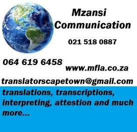 Simultaneous Interpreters NEEDED in Cape Town