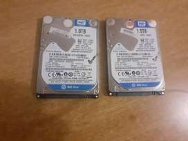 2 X 1000GB/ 1TB Laptop Hard Drives Loaded With Windows 10 For Sale