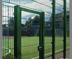 Забор из сварной сетки,секционный забор зеленый,3D сетка с полимером