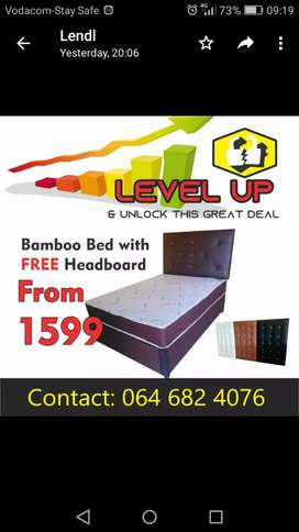 BAMBOO bed with FREE headboard