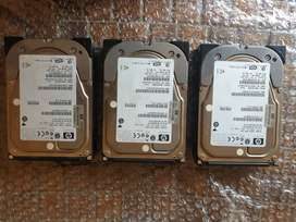 HP 300 GB 3.5 inch SAS Drives for sale x3