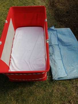 Camp cot with mattress and carry bag