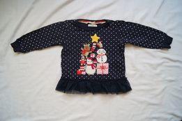Świąteczna bluzka CRAFTED na 12-18 miesięcy ŚWIĘTA