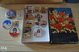 Różne przypinki z lat 80 i 90 dla kolekcjonera