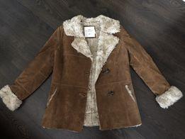 Дубленка H&M натуральная замша куртка, размер м-л