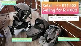 TFK Bugster S Pram and Carrycot incl. Recaro car seat