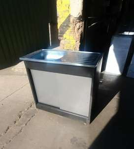 R1150 for Rdp single sink steel cabinet with sliding steel doors