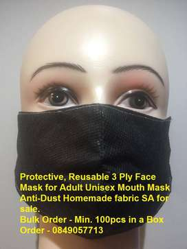 Protective, Reusable 3 Ply Face Mask  for Adult n Kids Unisex