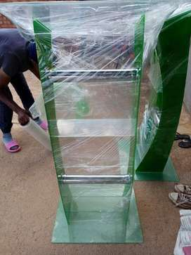 The new green colored C shape pulpit