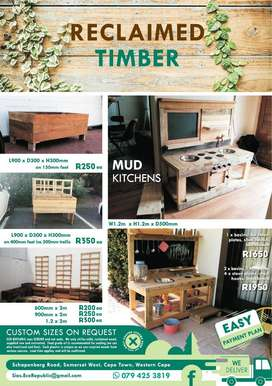 Planter Boxes / Mud Kitchens / Barn Doors / Table