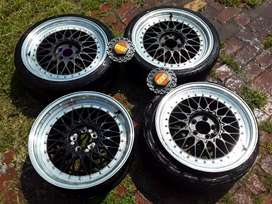 """17 """" BBS MAGS TO SWOP FOR 15"""" VW CITi golf VELOCITY / ROX MAGS"""