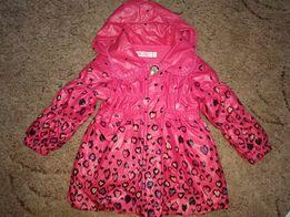 Пальто для девочки на флисе, на 2-4года.