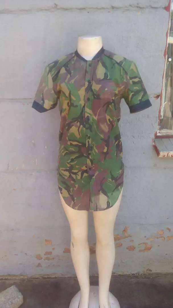 Slim fit camouflage shirt 0