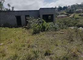 Unfinished house with a Big yard to extend