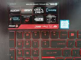 MSI GF75 Thin 8RC Intel core i7
