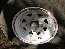 3X RIMS AND TIRES FOR TRAILER