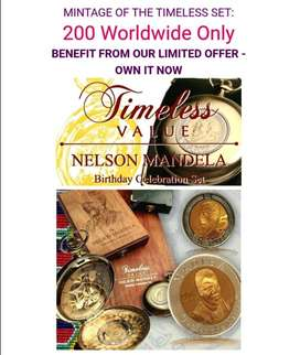 2012  TIMELESS VALUE  NELSON MANDELA  BIRTHDAY CELEBRATION SET
