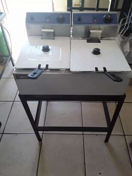 Deep Fryer for Fish and Chips  (electric) floor standing model