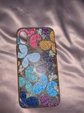 Butterfly sparkling iphone x or iphone xs cover