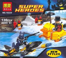 Конструктор Супергерои 136 дет. Бэтмен, Batman, Пингвин, аналог
