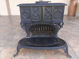 freestanding Ndebele fireplace