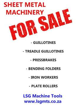 Sheet Metal Machinery for sale