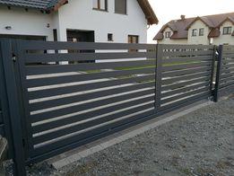 Ogrodzenia Brama przesuwna wypełnienie aluminiowe Wrocław Producent