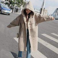 Женское пальто худи оверсайз