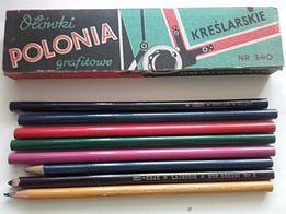 Ołówki kopiowe kolorowe Omnium-Pruszków ,Hardtmuth