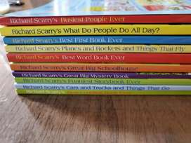 RICHARD SCARRY BOOK SET OF 10 NEW
