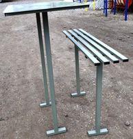 Металлический столик, лавка. Для установки на кладбище