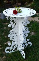 Продам столик под цветы подставка стол деревянный резной ажурный декор