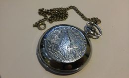 Часы карманные винтажные Молния Глухарь 18 камней