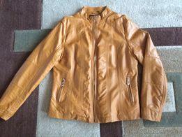 Skórzana kurtka ze stójką kolor miodowy
