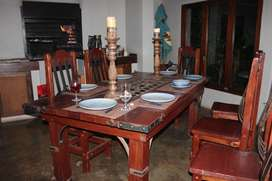 Wooden dining set 8 seater.