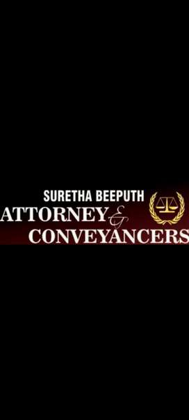Durban area Attorney  and Conveyancer