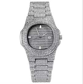 Silver and Gold Diamond Watch