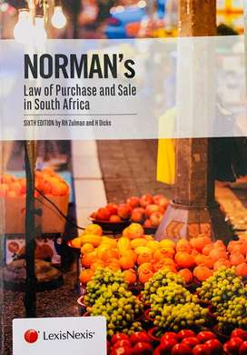 NORMAN'S LAW OF PURCHASE AND SALE IN SOUTH AFRICAu