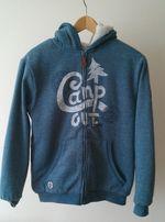 bluza niebieska z kapturem bardzo gruba Cool Club na wzrost 158 cm