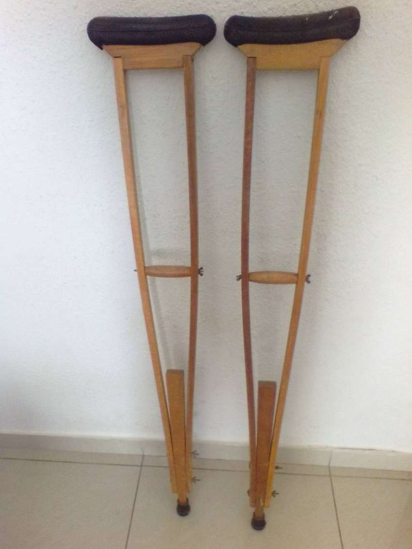 Old Wooden Crutches 0