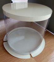 Коробка для торта Круглая Прозрачная 30 см