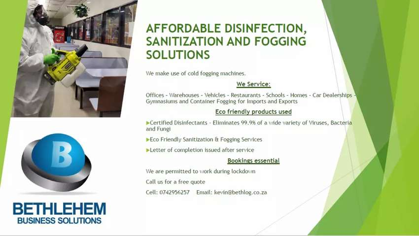 Fogging and Disinfecting Service East Rand 0
