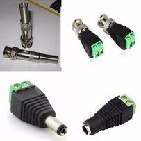 Коннектор к коаксиальному кабелю RG59 для видеонаблюдения