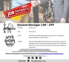 General Manager | DP - Plumstead