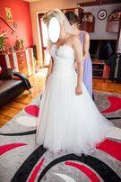 Suknia ślubna Sweetheart, rozmiar S, księżniczka