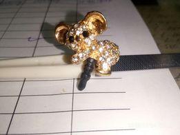 Брелок кристалл коала для наушников