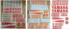 Yamaha Raptor quad bike graphics / vinyl cut stickers decals kit