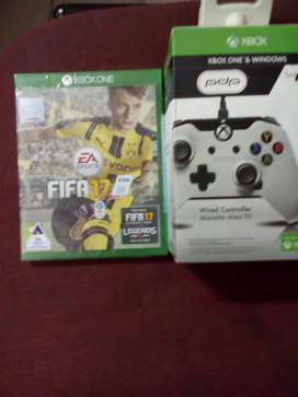 Xbox one wired controller   + FIFA 17